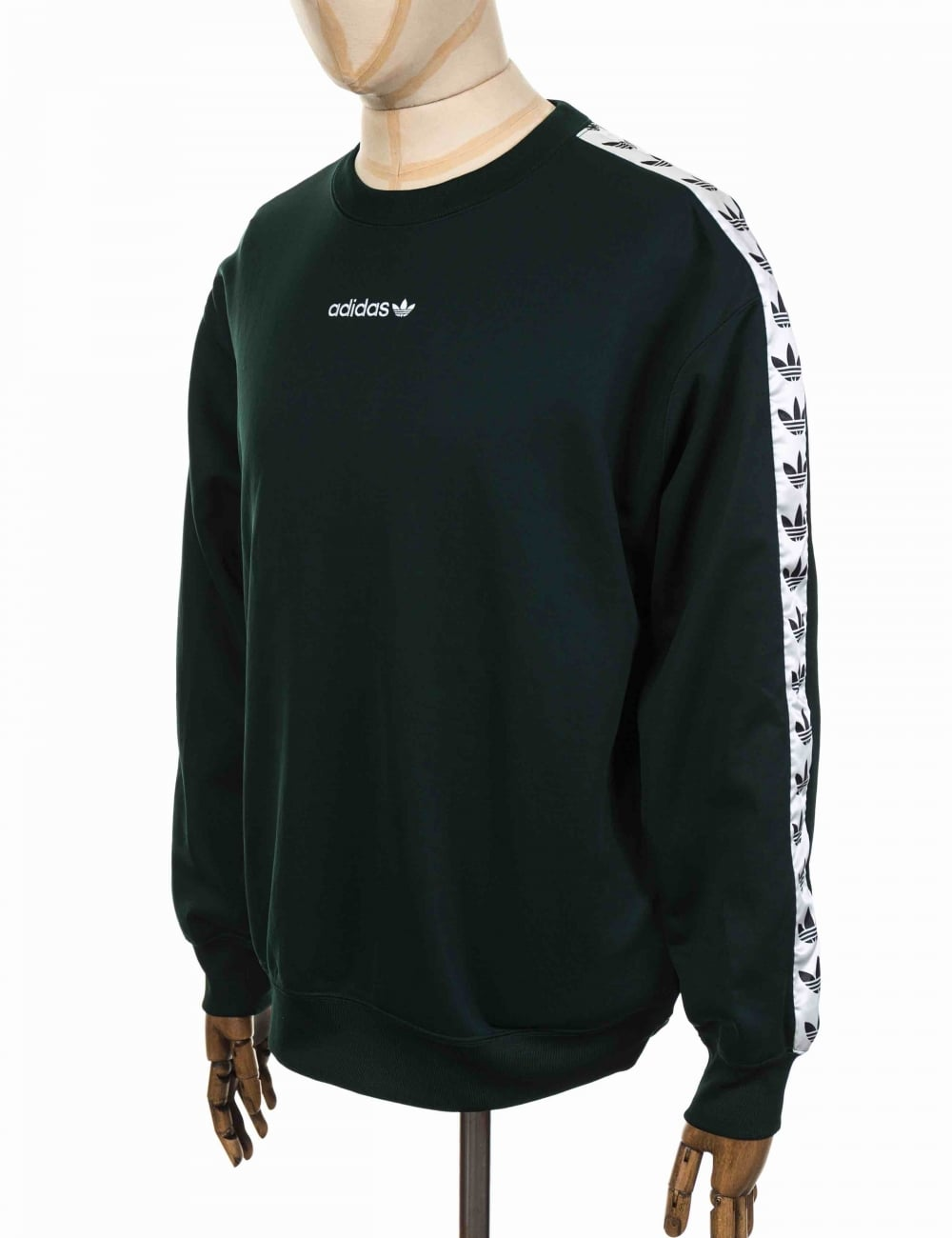 TNT Tape Crew Sweatshirt - Night Green/White