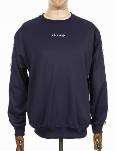 TNT Tape Crew Sweatshirt - Trace Blue/White