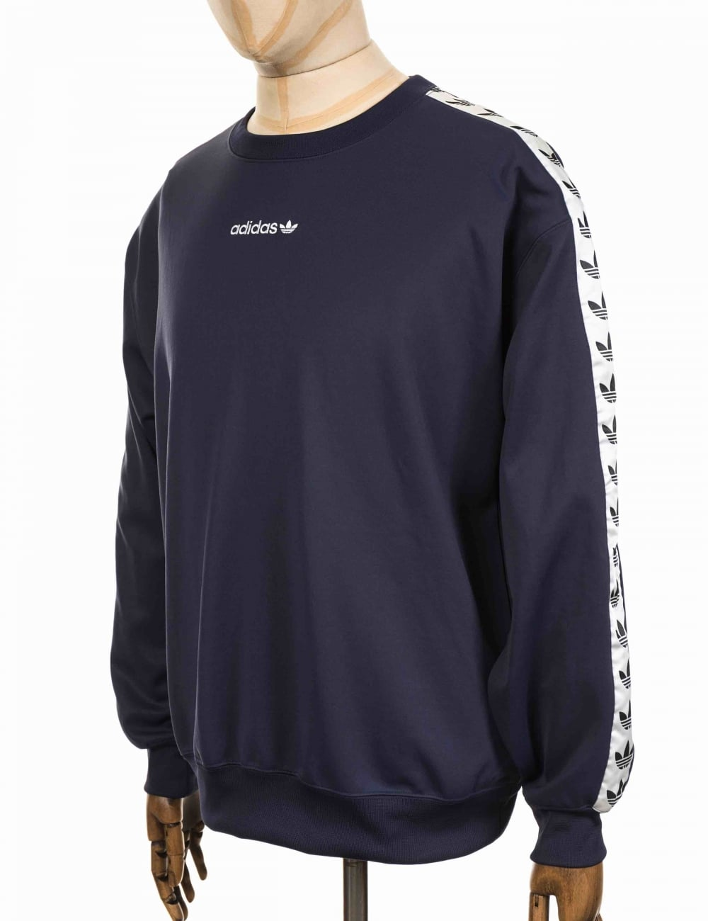 Continente Instituto Equipar  Adidas Originals TNT Tape Crew Sweatshirt - Trace Blue/White - Clothing  from Fat Buddha Store UK