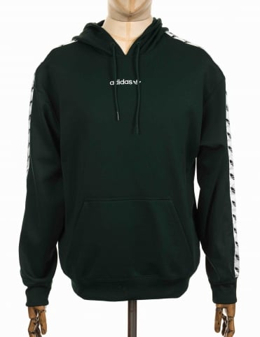 TNT Tape Hooded Sweatshirt - Green Night/White