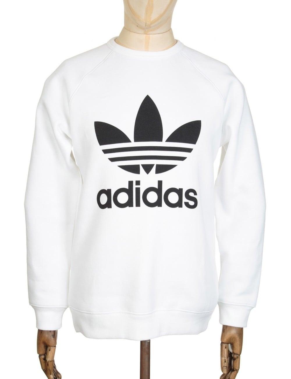 aec18843909c Adidas Originals Trefoil Sweatshirt - White - Clothing from Fat ...