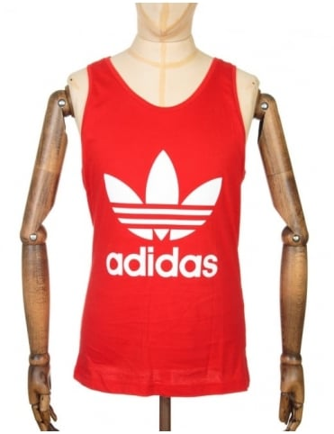 Adidas Originals Trefoil Tank Top - Vivid Red