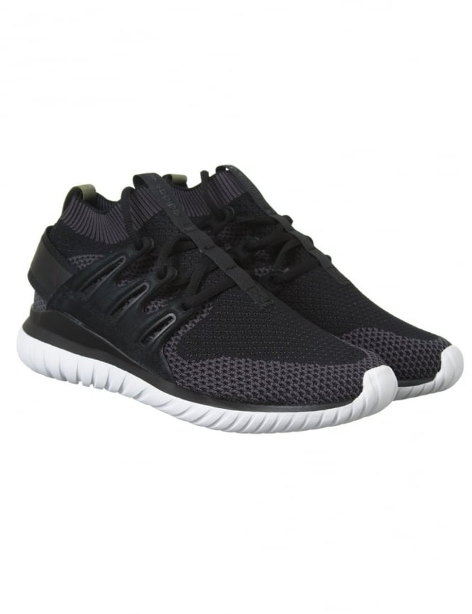 Adidas Originals Tubular Nova PK Shoes - Black/Core Black