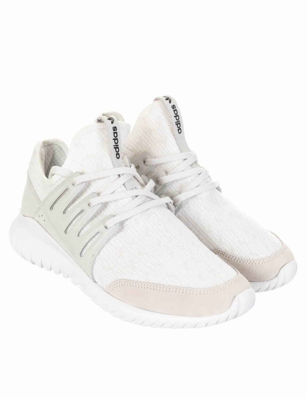 adidas originals tubular radial trainers in white