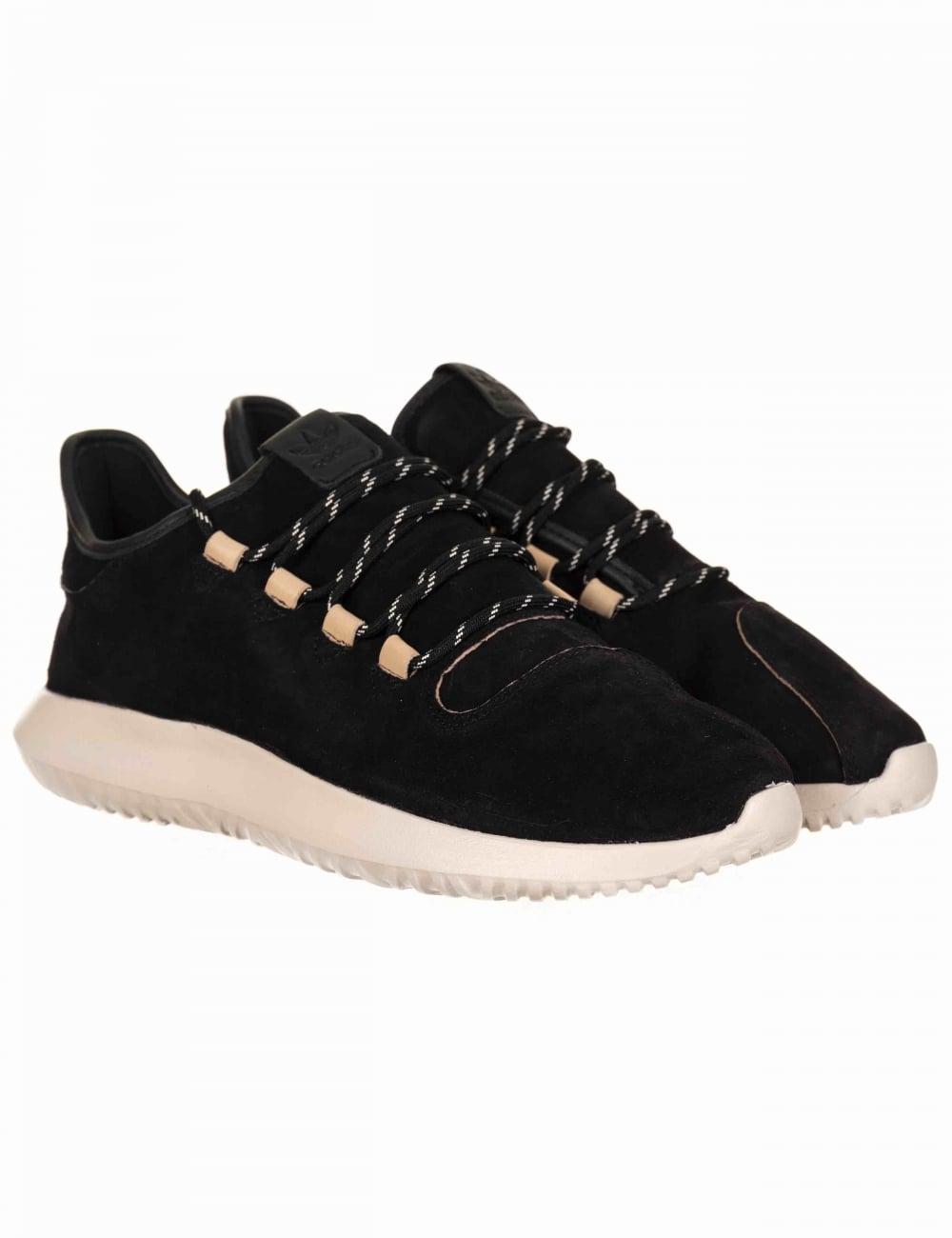 97e2e43de985a Adidas Originals Tubular Shadow Trainers - Core Black Core Brown ...