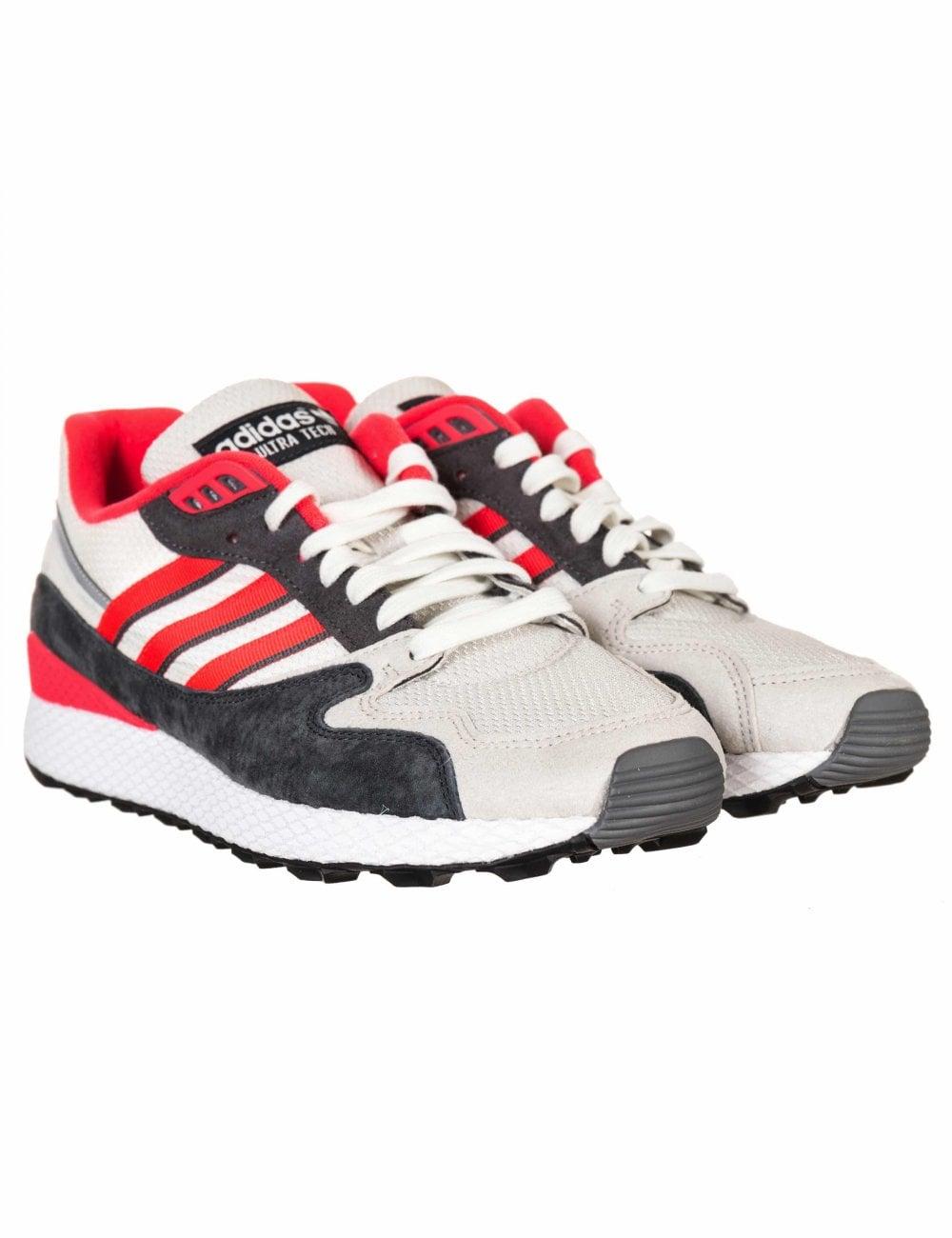 sale retailer 1d40d ef0c6 Adidas Originals Ultra Tech Trainers - Raw White Shock Red