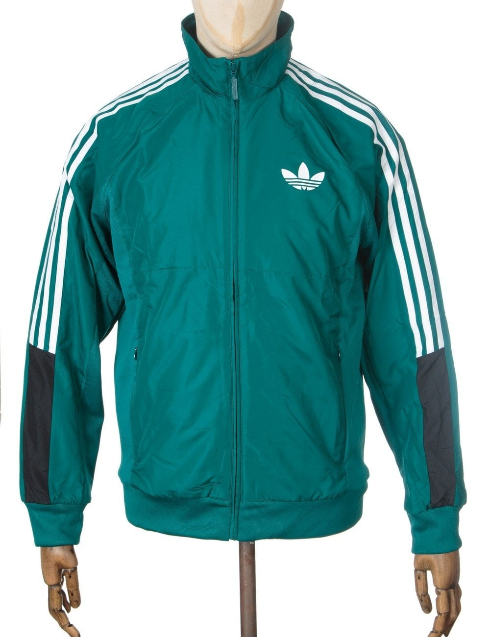 Adidas Originals Woven Logo Track Top - Emerald - Clothing from Fat ... b7ab22ae5