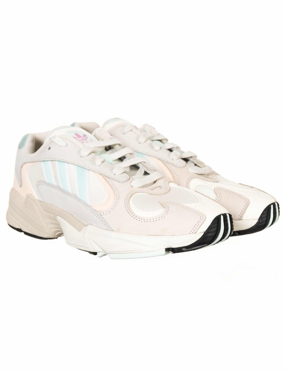 c12d41fe Adidas Originals Yung-1 Trainers - Off White/Ice Mint - Footwear ...