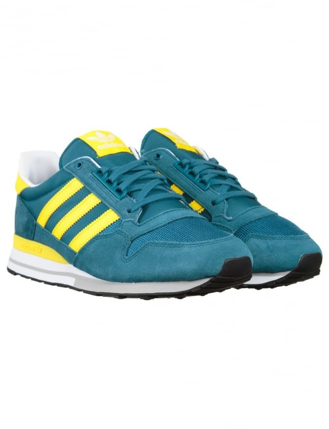 935bbcfeb8ba9 Adidas Originals ZX 500 OG Shoes - Surf Petrol Yellow - Footwear ...