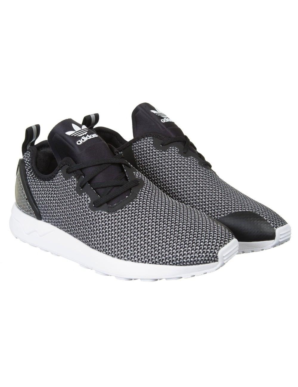 new styles 49731 d979a ZX Flux Racer ASYM Shoes - FTWRWhite/Core Black