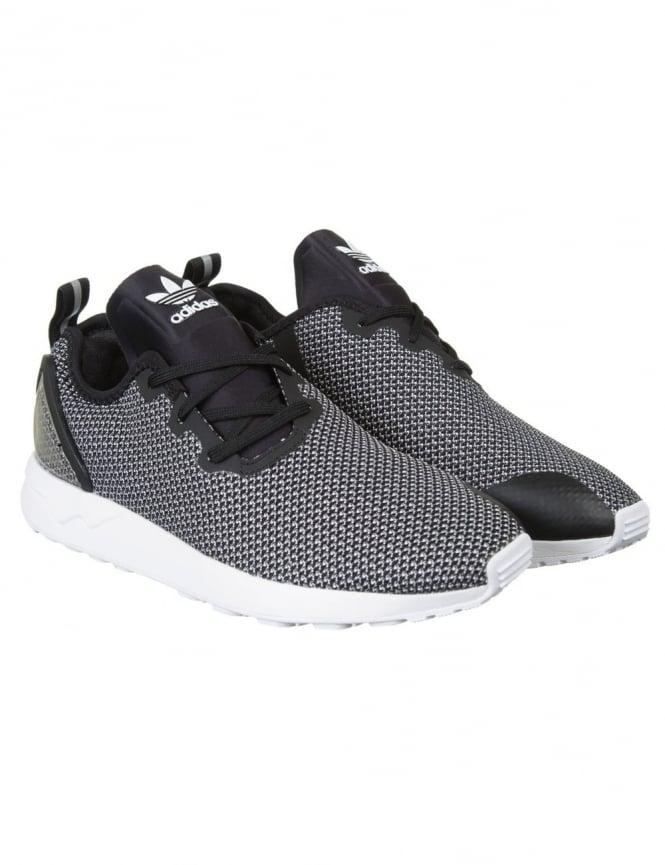 Adidas Originals ZX Flux Racer ASYM Shoes - FTWRWhite/Core Black