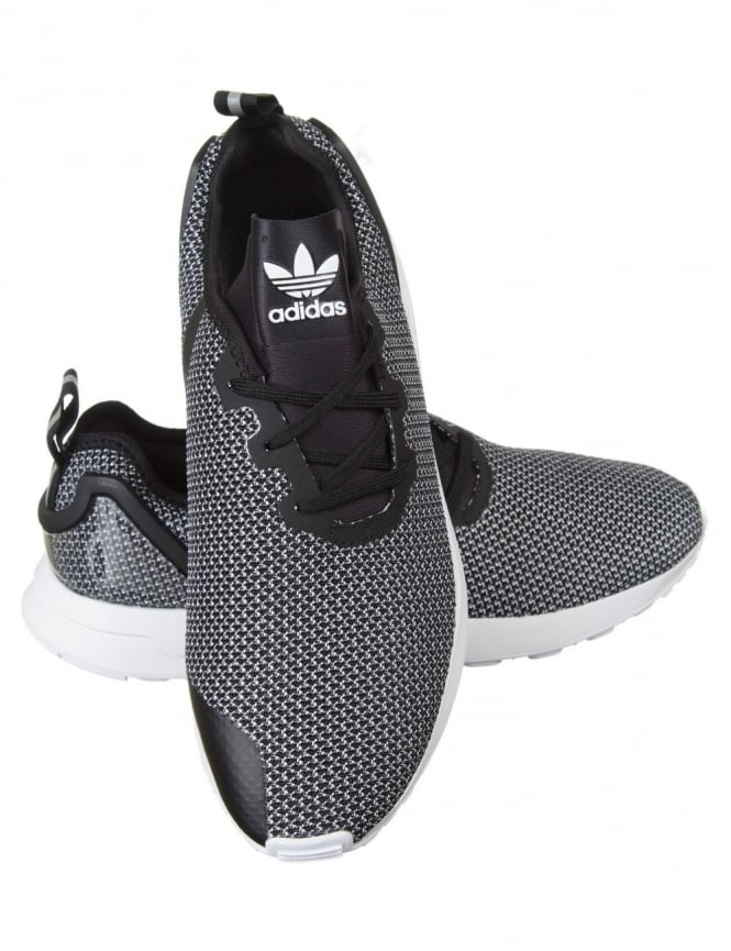 new styles 3e70a aa3a9 ZX Flux Racer ASYM Shoes - FTWRWhite/Core Black