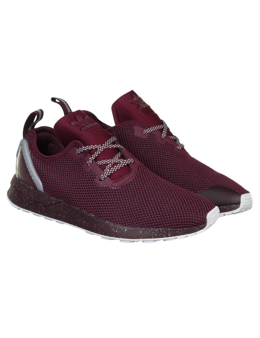 cd0d0295d Adidas Originals ZX Flux Racer ASYM Shoes - Maroon - Footwear from ...