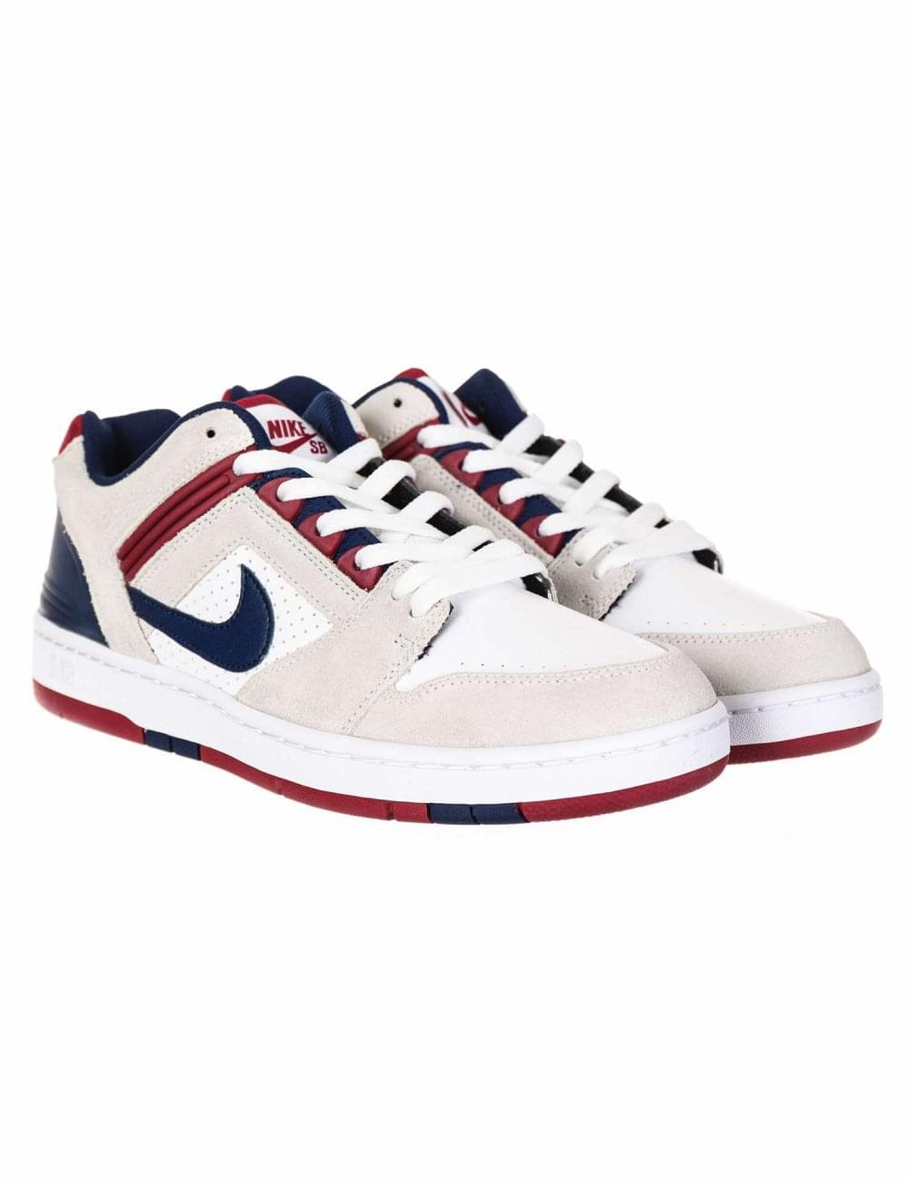 2423e1ab5e Air Force II Low Trainers - White/Blue Void/Red Crush