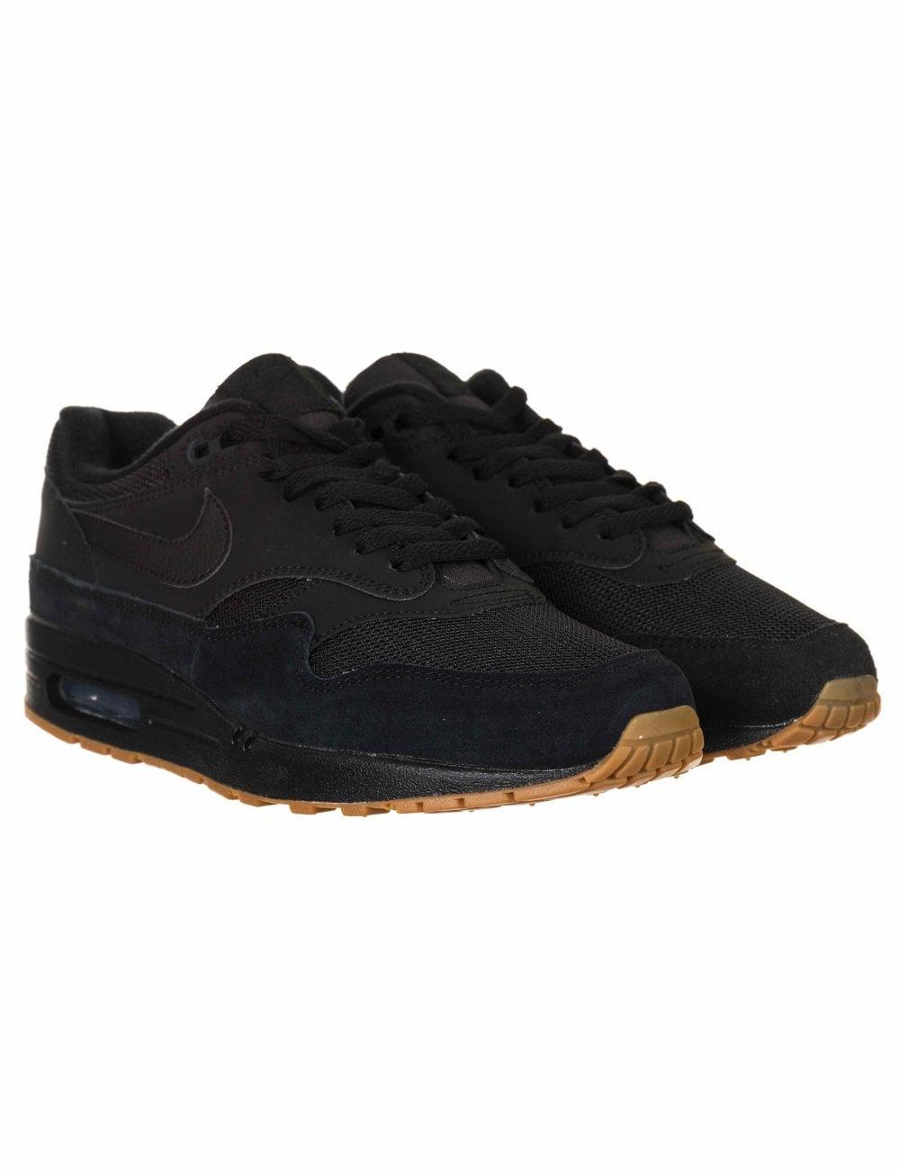 Nike Air Max 1 Trainers - Black/Black
