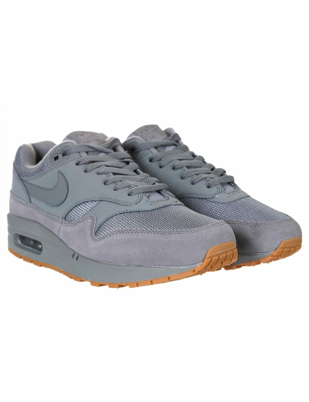 8122d866a7 Nike Air Max 1 Trainers - Cool Grey/Cool Grey - Footwear from Fat ...