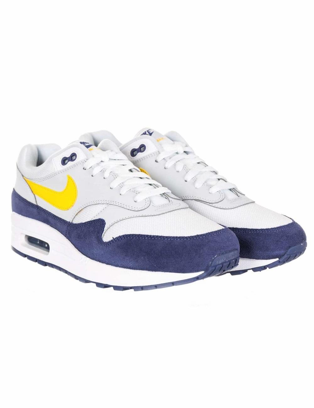fb8e97e63d Nike Air Max 1 Trainers - White/Tour Yellow/Blue Recall - Footwear ...