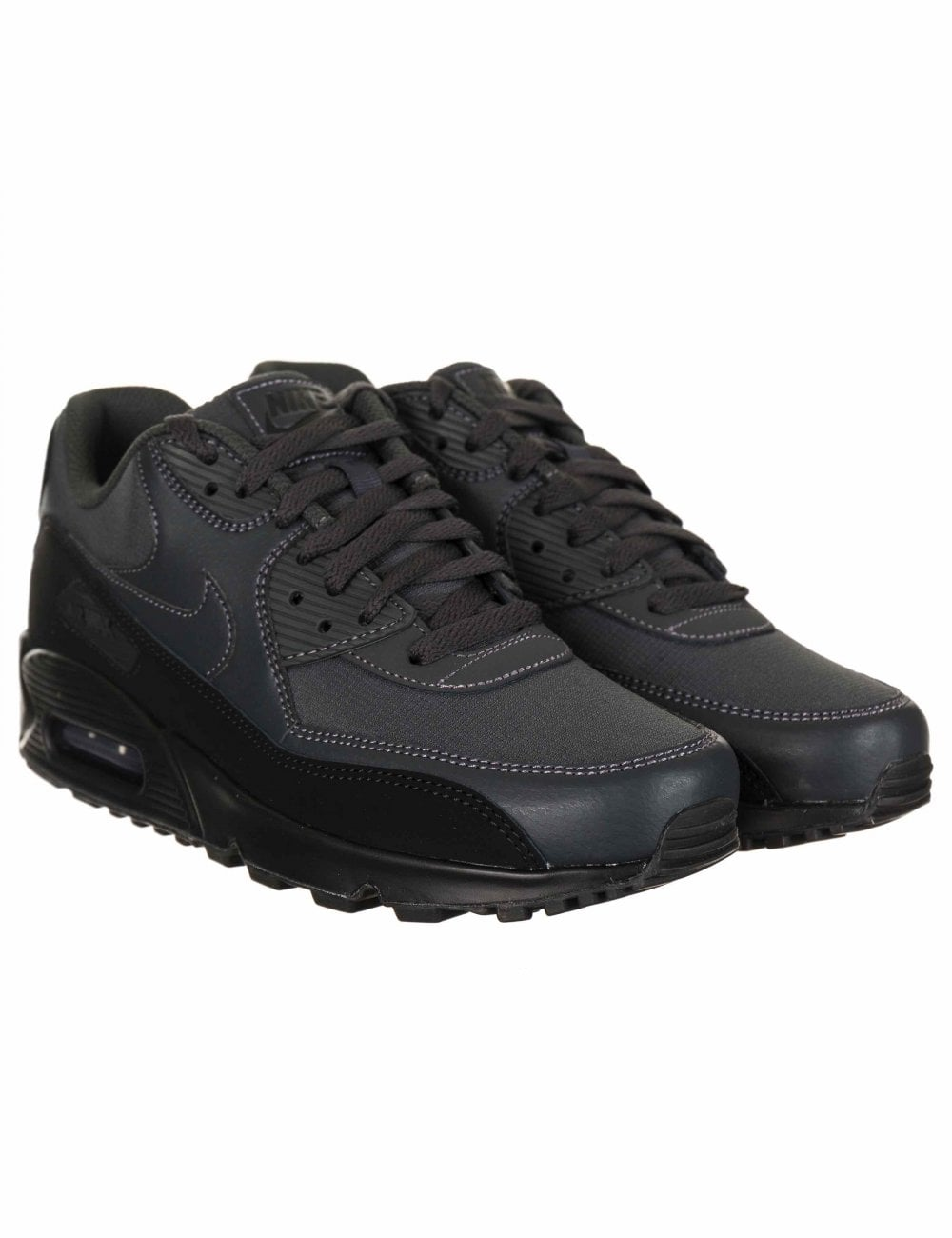 db09a43347 Nike Air Max 90 Essential Trainers - Black/Anthracite - Footwear ...
