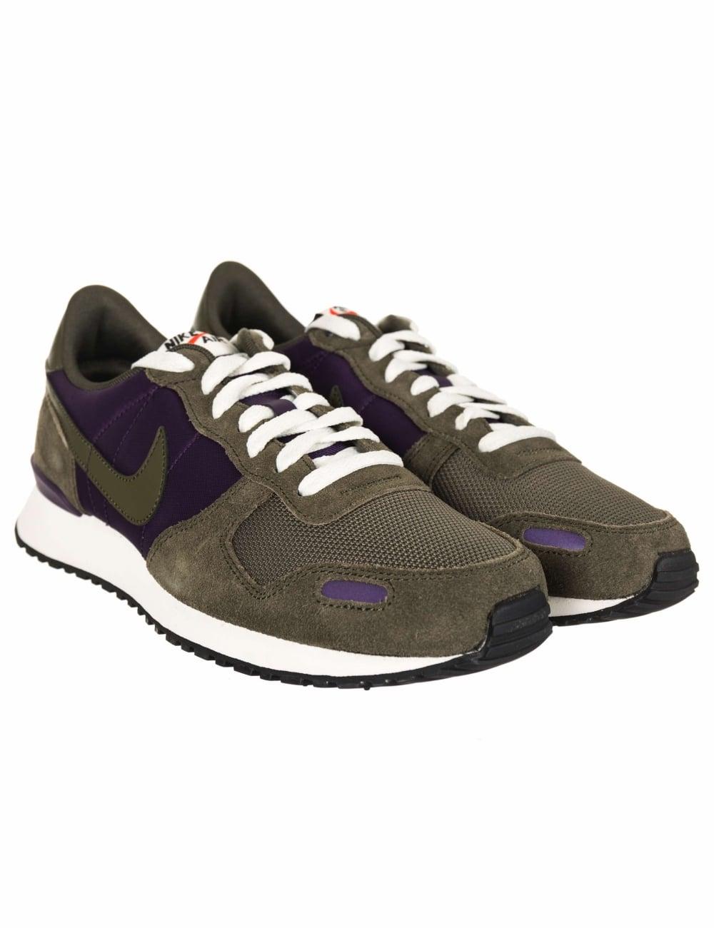 0103e733583e31 Nike Air Vortex Trainers - Grand Purple/Cargo Khaki - Footwear from ...