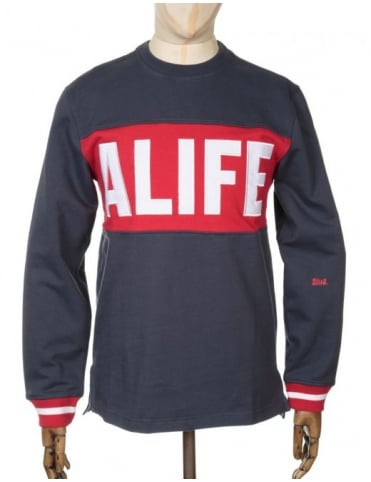 Alife Blocked Box Sweatshirt - Eclipse Blue