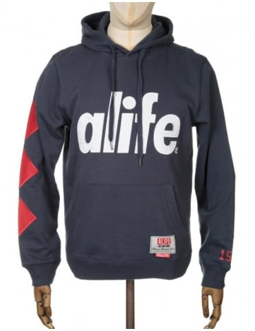 Alife Core Diamond Hooded Sweat - Eclipse Blue
