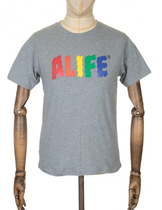 Alife Electric Life T-shirt - Heather Grey