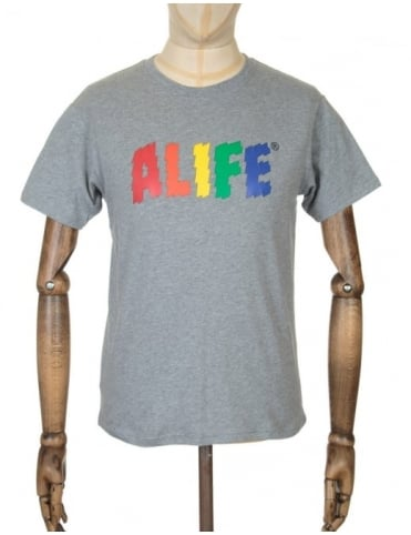 Alife Electric Life T-shirt - Heather Grey
