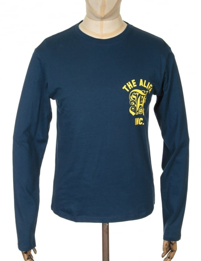 Alife L/S Classic Man T-shirt - Navy