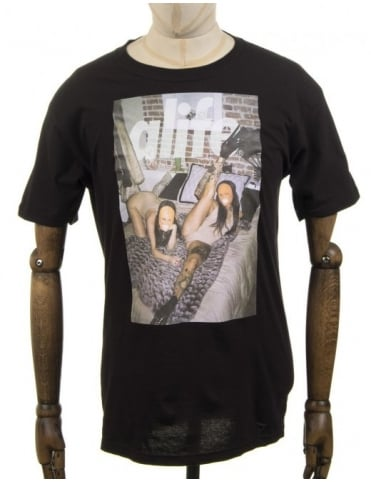 Alife Sleepover Photo T-shirt - Black
