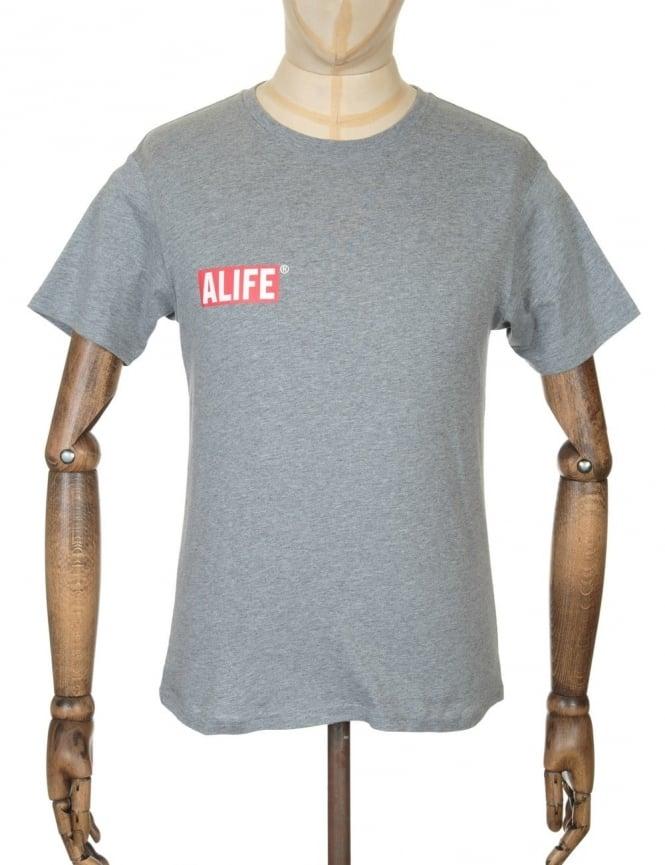 Alife Stuck Up Mag T-shirt - Heather Grey
