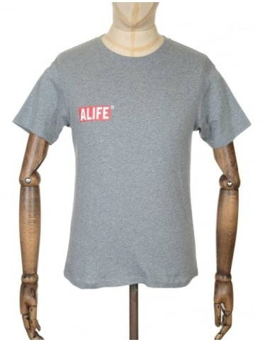 Alife Stuck Up Mag T-shirt - Heather Grey