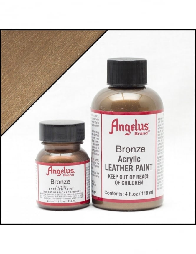 Angelus Dyes & Paint Bronze 1oz - Leather Paint