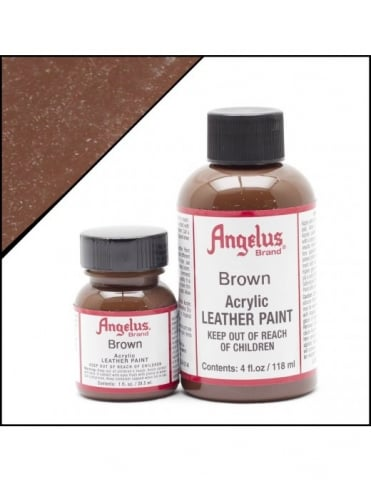 Angelus Dyes & Paint Brown 4oz - Leather Paint