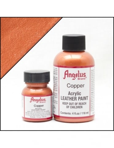 Angelus Dyes & Paint Copper 4oz - Leather Paint