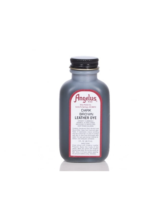 Angelus Dyes & Paint Dark Brown 3oz - Leather Dye