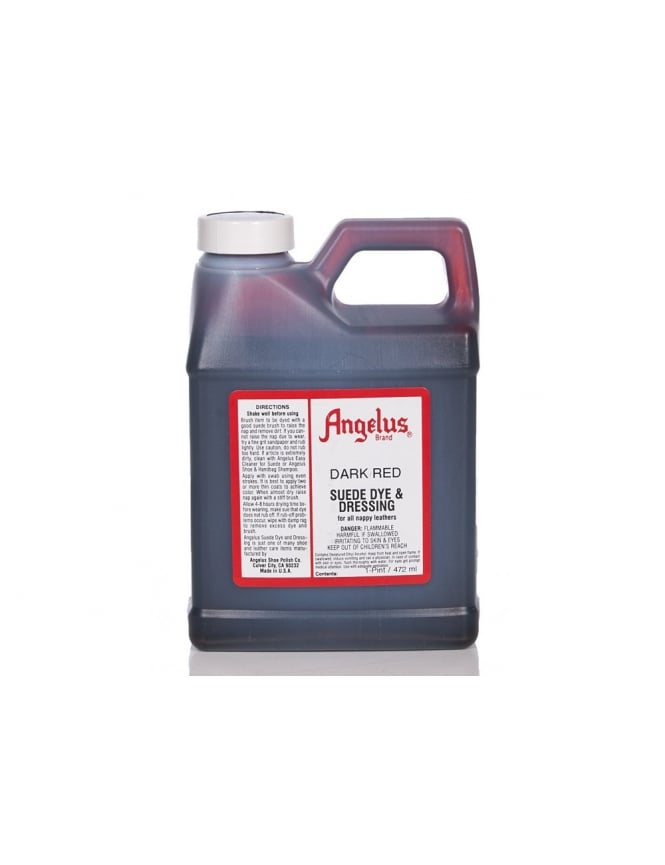 Angelus Dyes & Paint Dark Red 1Pt - Suede Dye