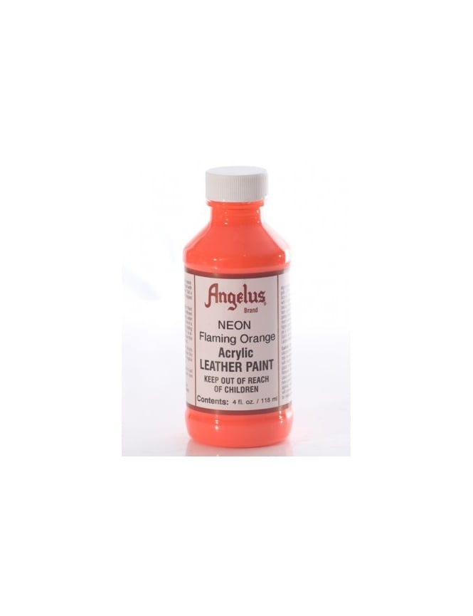 Angelus Dyes & Paint Flaming Orange 4oz - Leather Paint