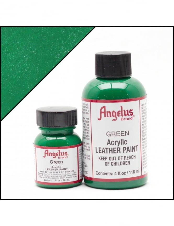 Angelus Dyes & Paint Green 4oz - Leather Paint