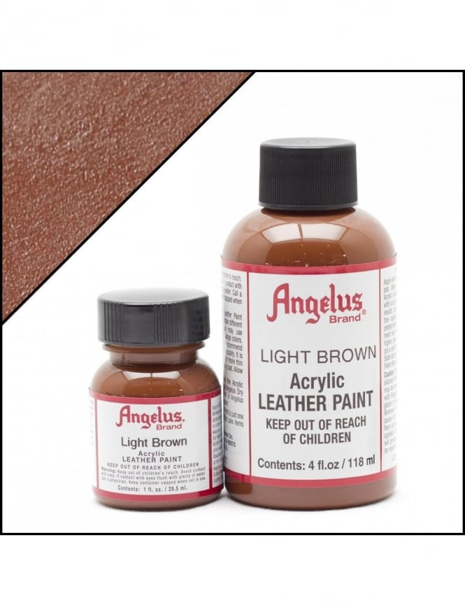 Angelus Dyes & Paint Light Brown 4oz - Leather Paint