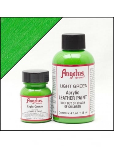 Angelus Dyes & Paint Light Green 4oz - Leather Paint