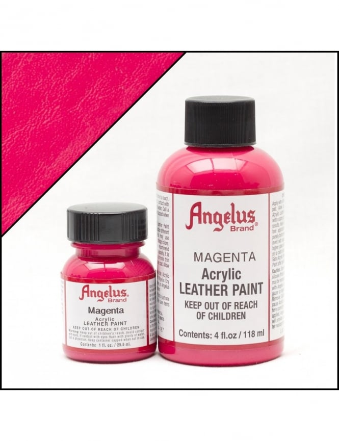Angelus Dyes & Paint Magenta 1oz - Leather Paint