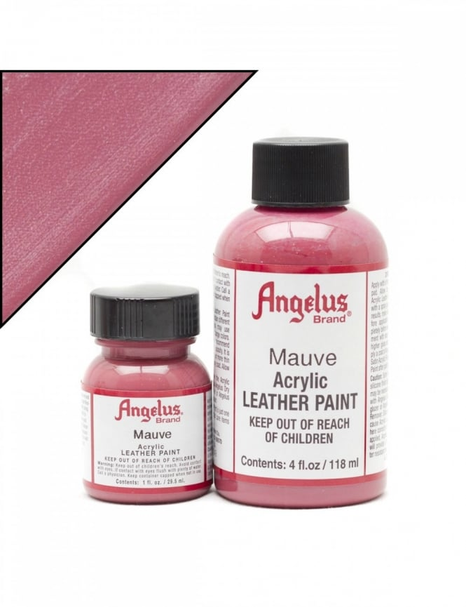 Angelus Dyes & Paint Mauve 4oz - Leather Paint