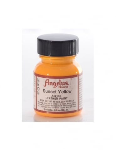 Angelus Dyes & Paint Sunset Yellow 1oz - Leather Paint