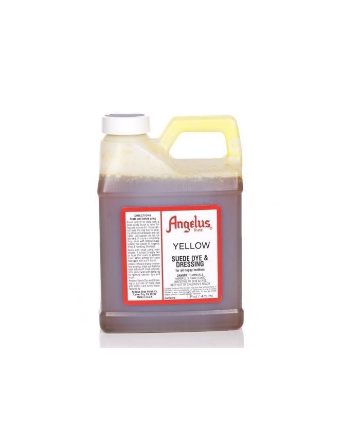 Angelus Dyes & Paint Yellow 1Pt - Suede Dye