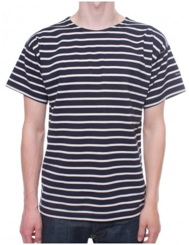 Breton Stripe S/S 1527 - Navy/Natural