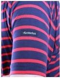 Armor-Lux Breton Stripe S/S 1527 - Navy/Red