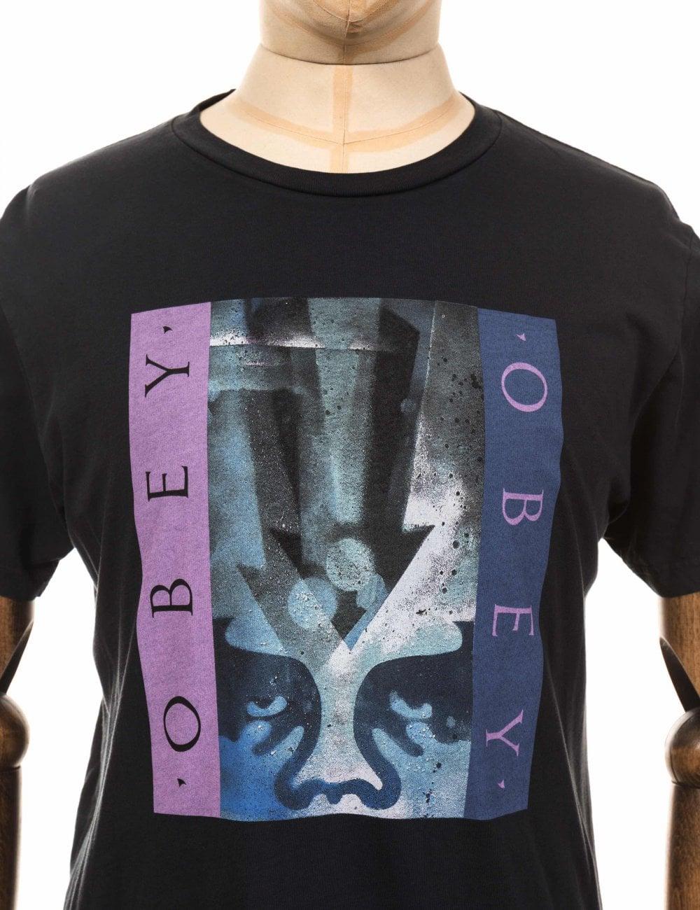 Obey Clothing ARROW Stencil Superior tee-Off Noir
