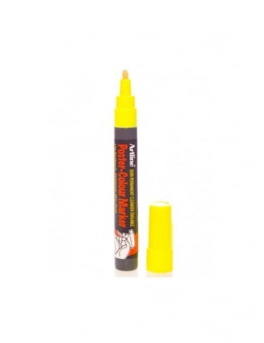 Artline 4mm Poster Marker - Fluoro Yellow