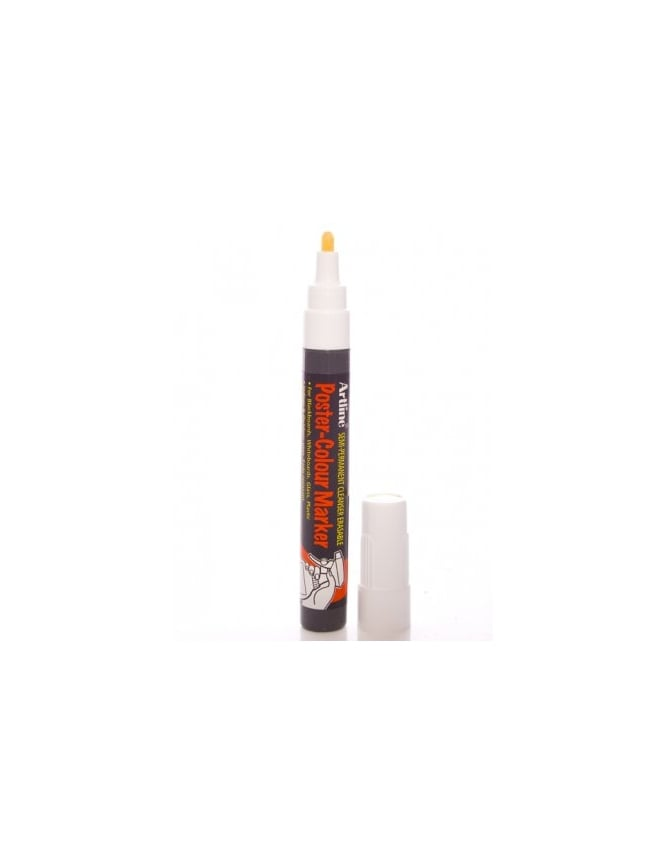 Artline 4mm Poster Marker - White