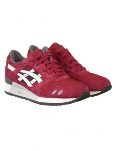 Gel Lyte III Shoes - Burgundy/White